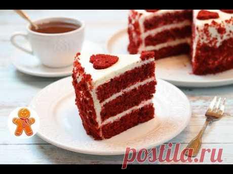 """Торт """"Красный Бархат"""" по Классическому Рецепту ✧ Red Velvet Cake"""