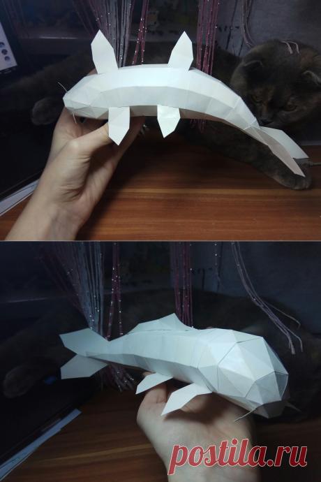 Как сделать рыбу из бумаги, скачать схему и шаблон