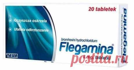 FLEGAMINA 8mg x 20 tablets cystic fibrosis Indications: bronchial diseases with thick, overly viscous secretions, chronic bronchitis, cystic fibrosis UK, atelectasis due to bronchial closure by mucus