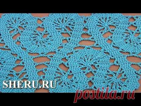 Crochet Lace of the Buges Tutorial 19 the Border or a tape in equipment of bryuggsky lace