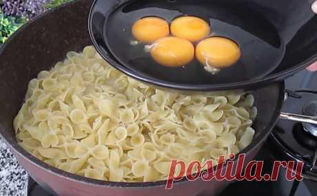 Ресторанное блюдо из макарон совсем без затрат: делаем на сковороде без варки