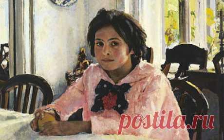 Девочка с персиками» Валентин Серова, 1887 год. На картине изображена Вера Мамонтова.