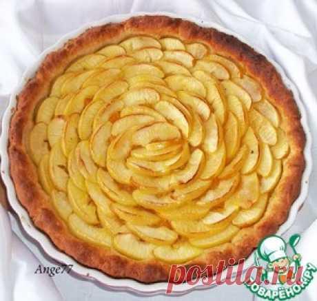 El pastel de frutas sobre el test caseoso - la receta de cocina