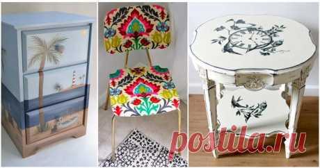 Новые и стильные идеи декупажа мебели ...