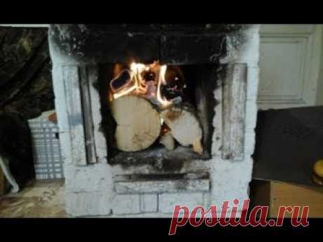 Наша супер печь!!! В морозы греет весь дом!!! Our super stove!
