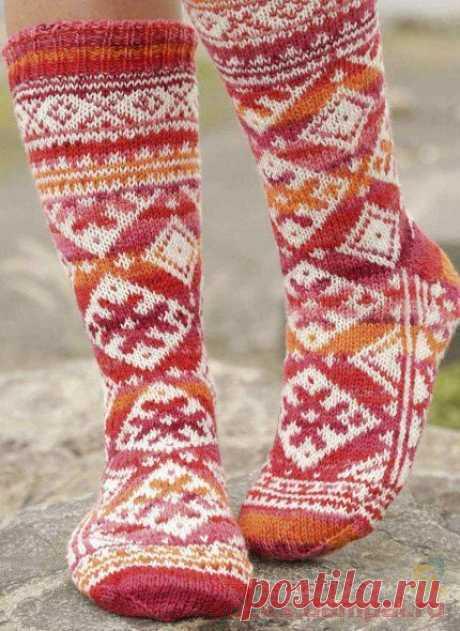 Вязаные носки «Mexican Sunset»   ВЯЗАНЫЕ НОСКИ