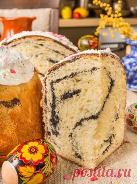 La rosca de Pascua chiné de amapola - las recetas sabrosas comprobadas, la selección de las recetas por los productos, la consulta del jefe de cocina, poshagovye la foto, las listas de las compras en VkusnyBlog.Ru