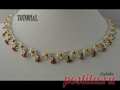 """Aylake - How to make beaded Necklace """"Andel"""""""