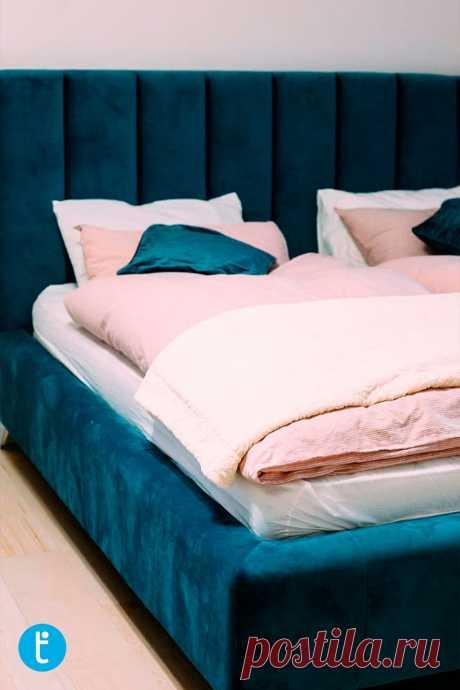 Мягкая кровать Ева, выполненная по индивидуальному заказу.  ▪️Производство мягкой мебели по индивидуальным проектам ▪️Никакого ❌ДСП ❌. Только эко фанера и брус  ▪️Более 3000 вариантов обивочных материалов  ▪️Гарантия  ▪️Рассрочка платежа  ————————————————————- ТАМАММ - made for you