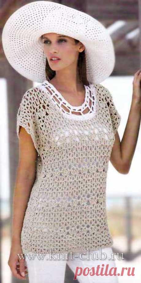 Элегантная кофточка с сайта www.knit-club.ru.