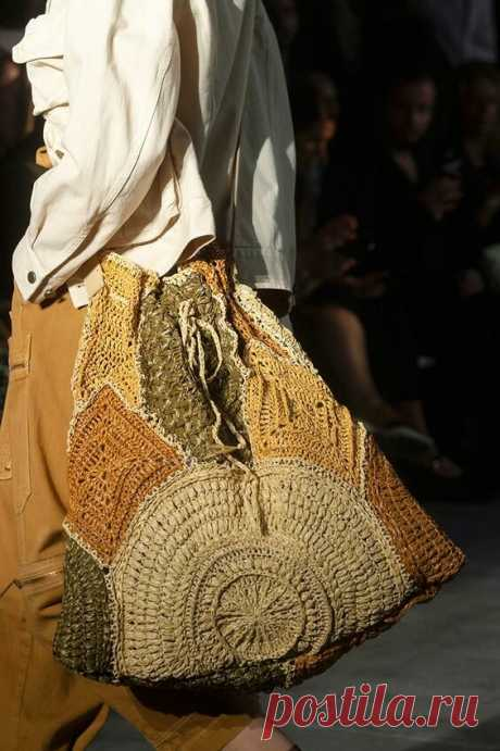 Вязаные сумки с подиумов. Сами сможем повторить?   Handmade для всех   Яндекс Дзен