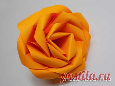 Как сделать розу из бумаги в технике оригами (мастер-класс)