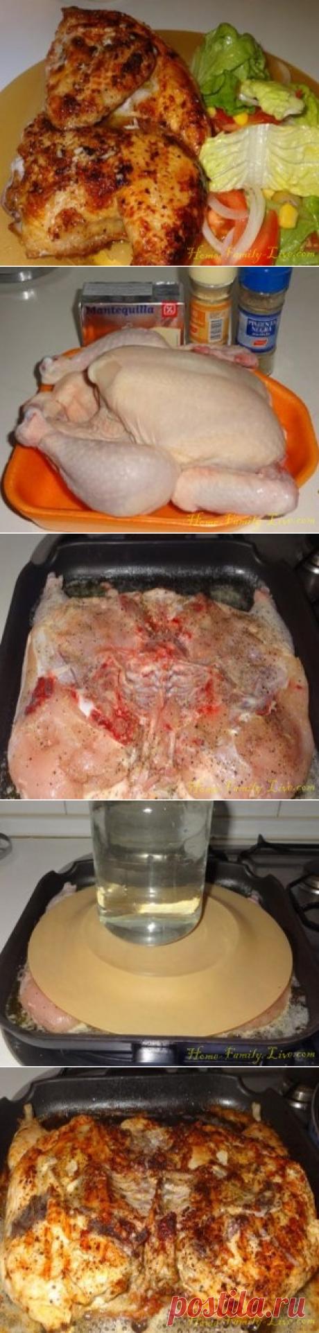 Цыпленок табака - пошаговый рецепт с фотоКулинарные рецепты