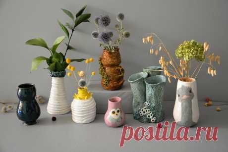 Купить  Декоративные Керамические Вазы,  ручная работа, сделаны в единственном экземпляре. Керамические Декоративные Вазы для цветов.  Сделаны моими руками, в единственном экземпляре. Каждая Ваза уникальна в своем роде. Цены от 20$ до 400$.