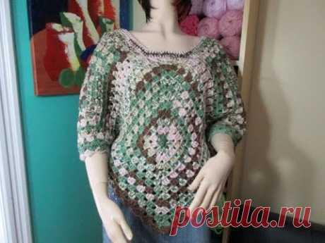 Crochet Blusa con cuandrado granny squares -  con Ruby Stedman