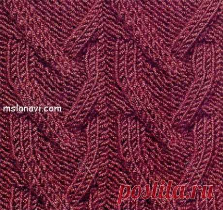 Рельефный узор спицами №22 | Вяжем с Лана Ви