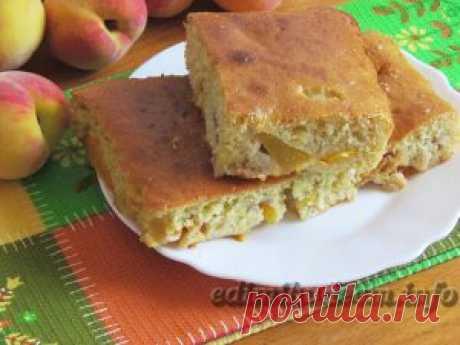 Пирог на сметане с персиками — Едим и худеем