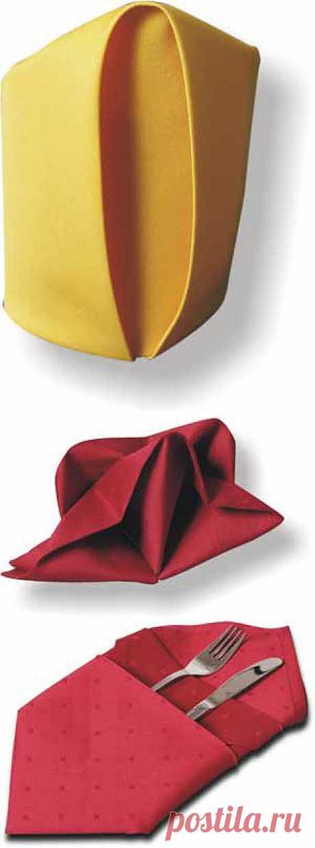 Сервировка стола: складываем салфетки (продолжение) / Идеи для украшения стола / Рецепты на любой вкус / Женские секреты / Женский стиль