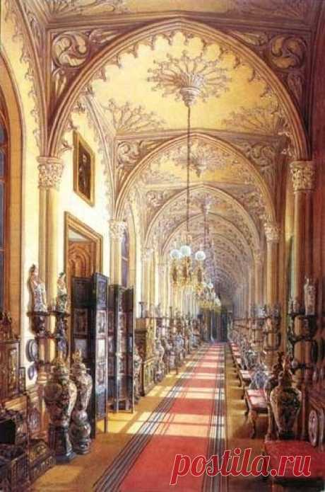 Gatchina Palace Chinese Gallery in watercolors by Edward Hau. | Pinterest • el catálogo Mundial de las ideas