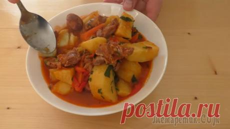 Просто замаринуйте куриные желудочки в киви / И получаем горячее блюдо для всей семьи / Другая Кухня