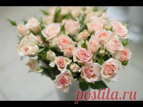 Реалистичная веточка кустовой розы , с НАТУРЫ! От А до я ! Вебинар Анны Горбуновой