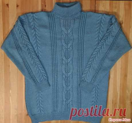 Мужской свитер с косами - Вязание - Страна Мам