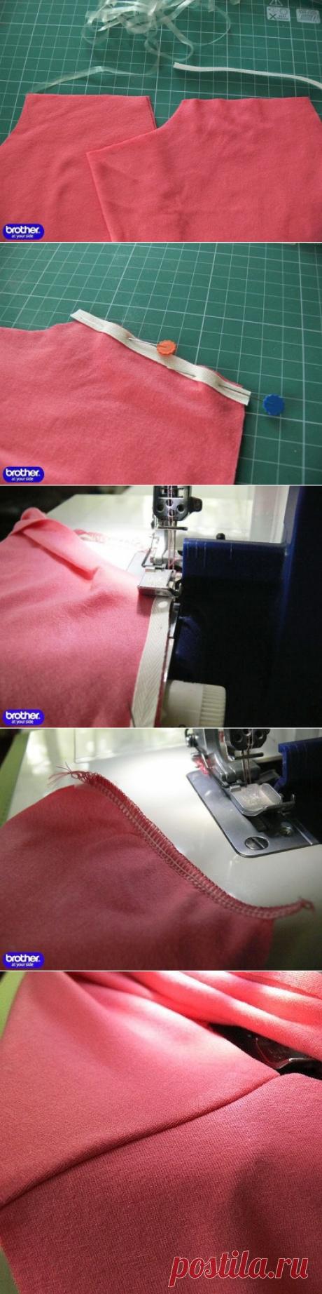 Укрепляем швы на трикотаже силиконовой лентой (Шитье и крой) | Журнал Вдохновение Рукодельницы