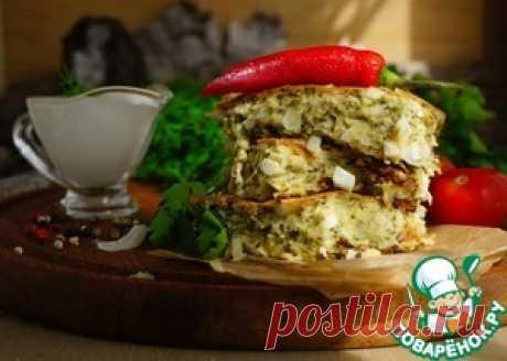 Пирог ленивый с молодой капустой и яйцами - кулинарный рецепт