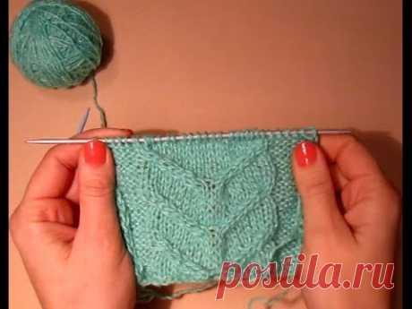 УЗОР КОСА! ВЯЗАНИЕ СПИЦАМИ! Вяжем красивый узор.Вязание для начинающих.knitting