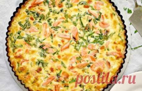 Киш с красной рыбой - кулинарный пошаговый рецепт с фото • INMYROOM FOOD