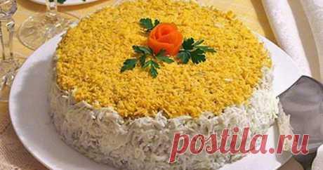 Сочный печеночный торт из куриной печени с морковью и грибами