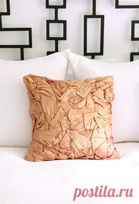 DIY сложенная Шелковая подушка / Донна Каран собрал шелковую подушку сбить / Dans le Lakehouse