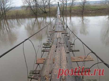 Мост в деревне Бочкарёвка / Facebook