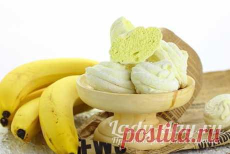 Банановый зефир в домашних условиях с агар-агаром | Простые рецепты с фото
