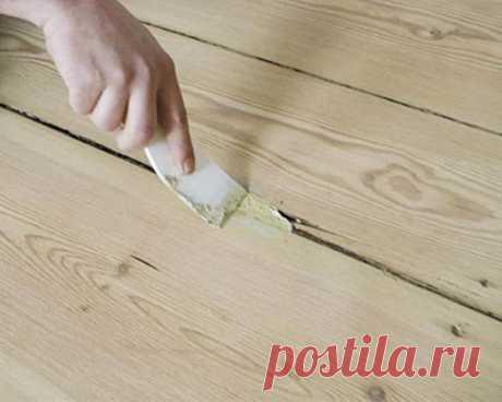Самый надежный способ заделать щели в деревянном полу