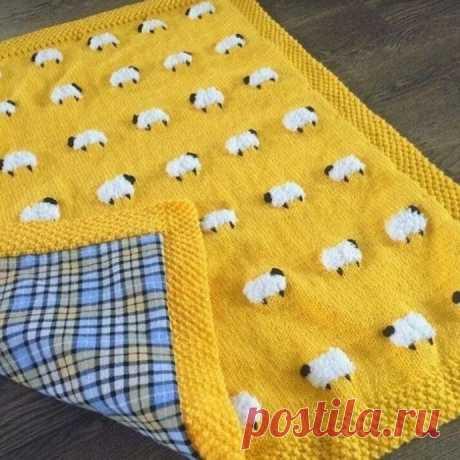 Узор для вязания в виде овечек