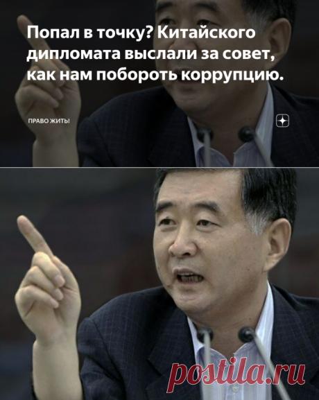 Попал в точку? Китайского дипломата выслали за совет, как нам побороть коррупцию. | Право жить! | Яндекс Дзен