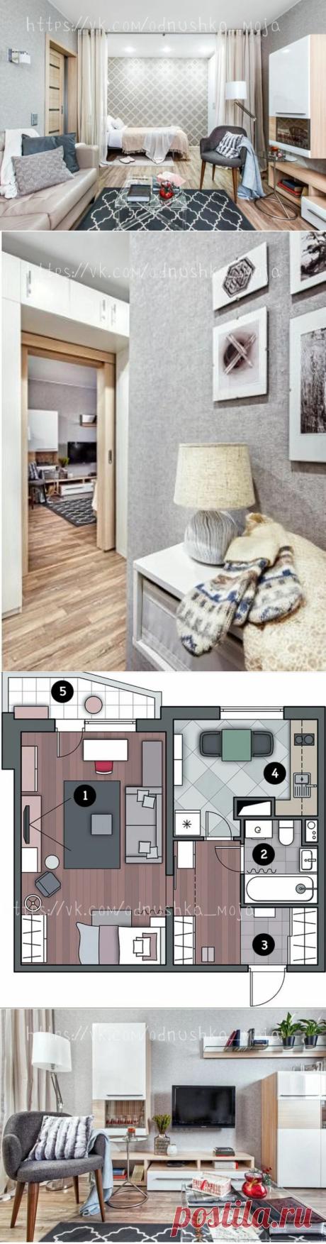 Уютность этой квартиры поражает. Интерьер однушки площадью 37 кв. м. Очень красиво, функционально и просторно.   Мамин дизайнер   Яндекс Дзен