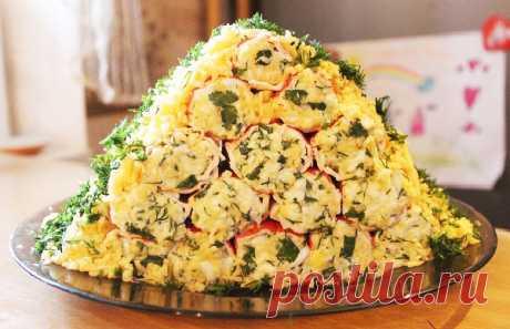 «Монастырская изба» из крабовых палочек, или оригинальная закуска на праздничный стол — Кулинарная страничка