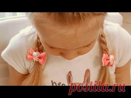 Прическа Два дракончика с ободком из кос. Детские прически - YouTube