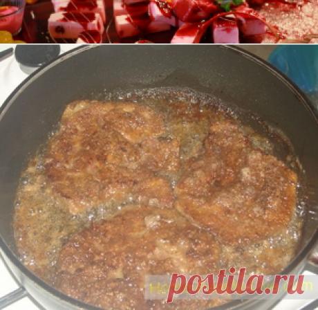Отбивные из печени - пошаговый кулинарный рецепт с фотоКулинарные рецепты