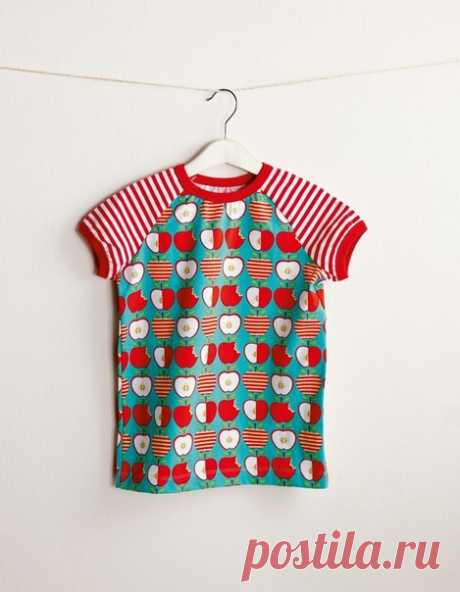 Выкройка Детская футболка с коротким рукавом Размеры на рост 56-134 см  #patterns@thestylishpatterns
