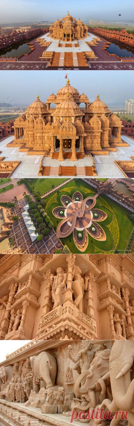Svaminarayan Akshardham: el templo más grande hinduísta en el mundo (India)
