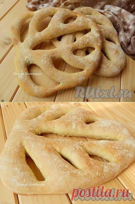 Французский хлеб Фугасс (Fougasse) (рецепт с фото) | RUtxt.ru