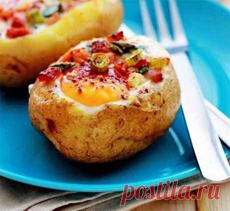 Запеченная картошка с аппетитной начинкой | Домашняя кулинария
