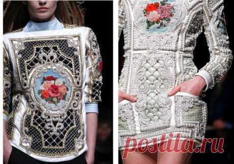 Charm and luxury of world podiums — an embroidery a cross
