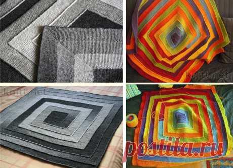 """Интересный и практичный метод вязания одеяла или пледа""""10 петель""""."""
