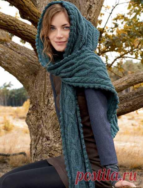 Оригинальный шарф-капюшон — DIYIdeas