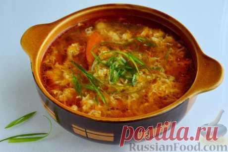 Рецепт: Китайский томатный суп с яйцами на RussianFood.com