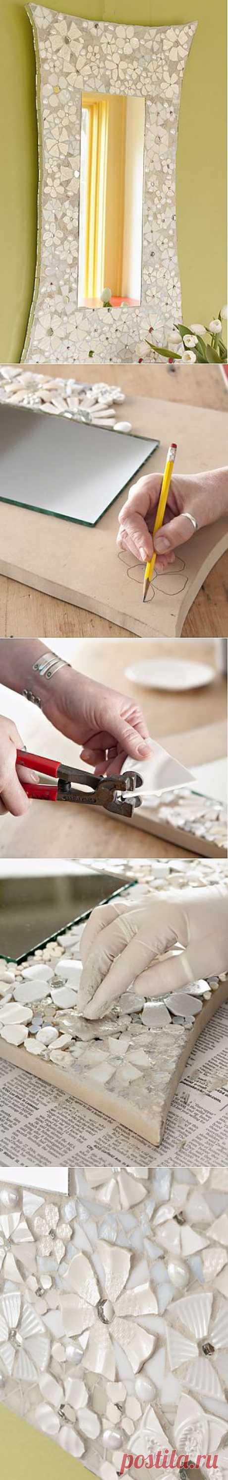 Мозайка ... из разбитых тарелок (мастер-класс) / Ванна / Модный сайт о стильной переделке одежды и интерьера